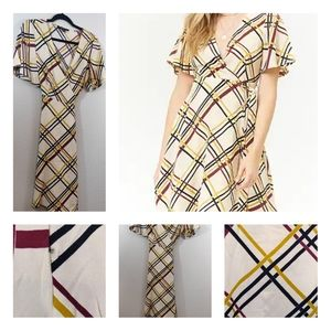 Plaid Wrap Dress by Forever21